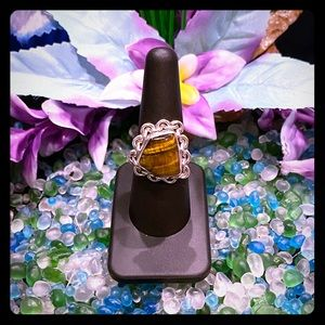Handcrafted Tiger's Eye Ring